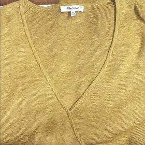 Madewell Tops - Madewell Wrap-Front Pullover Sweater